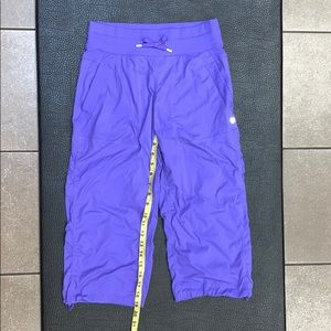 Lululemon HR Purple Dance Studio Crop Pants U/L 4